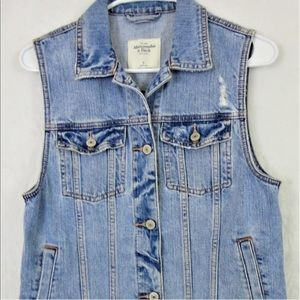 Denim vest by Abercrombie and Fitch